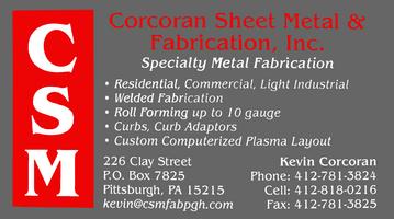 Corcoran Sheet Metal Corcoran Sheet Metal Fabrication Inc Home